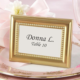 Idoo Beautifully Beaded Gold & Silver Photo Frame, Place Holder, Price/20 Pcs