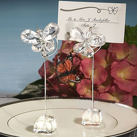 Idoo Clear Butterfly Wedding Place Card Holders, Price/Dozen