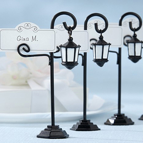 Idoo Bourbon Street Streetlight Place Card Holder with Coordinating Place Cards, Price/Dozen