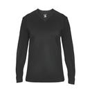 Badger 4064 - Ultimate V-Neck Ladies L/S Tee