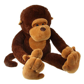 "GOGO 51"" Big Mouth Monkey Stuffed Plush Toy, Big Plush, Christmas Gift Idea"