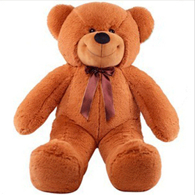 "GOGO 62"" Lovely Dark Brown Bear Stuffed Plush Toy, Big Plush, Graduation Gift Idea"