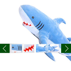 "GOGO 70"" Unique Huge Shark Stuffed Plush Toy, Christmas Gift Idea"