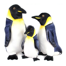 "GOGO 13"" & 17"" & 21"" Penguin Family Stuffed Plush Toys, Gift Idea"