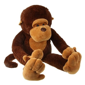 "GOGO 43"" Big Mouth Monkey Plush Toy, Soft Plush Animals, Valentine's Gift Idea"