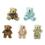 GOGO 5 Inch Stuffed Plush Teddy Bear, Pack Of 5, Valentine's Gift Idea