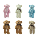 GOGO 4 Inch Stuffed Plush Teddy Bear with Bow, Pack Of 6, Valentine's Gift Idea, Party