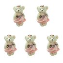 GOGO 4 Inch Stuffed Plush Bear Lightpink Bride Bear, Pack Of 5, Valentine's Gift Idea