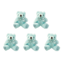 GOGO 5 Inch Stuffed Plush Teddy Bear, Blue, Pack Of 5, Valentine's Gift Idea