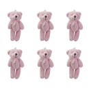 GOGO 3 Inch Stuffed Plush Teddy Bear, Pink, Pack Of 6, Valentine's Gift Idea