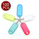 Aspire Key Tags - Clear Crystal Style, Assorted Colors 100 Pieces