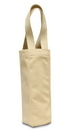 Liberty Bags 1725-88 Tuscany Single Bottle Wine Tote - Natural Coated