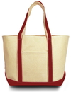 Liberty Bags 8871 Windward Large Cotton Canvas Classic Boat Tote