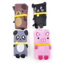 TOPTIE Foldable Shopping Bag, Recycled Grocery Bags - Folded Into A Cute Animal, 4 Pcs Packed