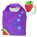 Reusable Shopping Tote Bag - Folded Into A Strawberry, 10Pcs, 6 Colors Available