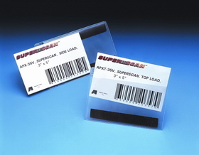 """SuperScan APXT35M Label Holders, 3""""x5"""", Clear, magnetic, Price/box"""
