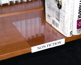 Movable Book Shelf BS5108 Label Holder, Moveable Shelf, Clear, Price/pack
