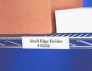 "Wire Rac WR1253 Wire Shelving Label Holder, 3"", Clear"