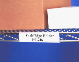 """Wire Rac WR1256 Wire Shelving Label Holder, 6"""", Clear, Price/pack"""