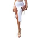 TopTie Asymmetrical Side Slit Party Midi-skirt