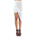 TopTie Draped High Waisted Asymmetrical Skirt