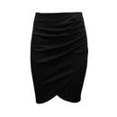 TopTie Office Lady Knee-length Pencil Asymmetrical Skirt