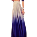 TopTie Gradient Purple Maxi Skirt, Casual Long Skirt