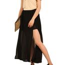 TopTie Slit Maxi Skirt, Gap Foldover Long Skirt