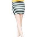 TopTie Lady Stripe Stretch Slim Fit Mini Skirt, Bandage Style, Mini Pencil Skirt