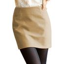TopTie Bandage Style Mini Skirt, Woolen Fabric, XS-L