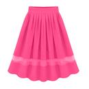 TopTie Women's Wavy Edge Full Skirt