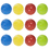 GOGO 12 Pieces Plastic Wiffle Balls / Baseballs / Dog Toy Balls (Assorted Colors)