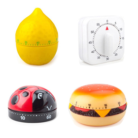 Aspire Assorted Designs of 60-Minute Kitchen Timers, Mechanical Timers, Price/5 Pieces