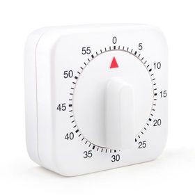 "Aspire 60-Minute ""Mini White Clock"" Kitchen Timer, Mechanical Timer, Price/Piece"