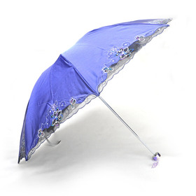 TopTie Anti-UV Sun Umbrella, Triple Folding UV Protected Parasol, Christmas Gift Idea