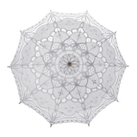TOPTIE Lace Umbrella, Romantic Wedding Battenburg Lace Parasol, 11 Colors Available