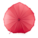 TopTie Wedding Umbrella Romantic Red Heart Shaped Parasol Bridal Umbrella