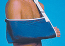AliMed 510694- Arm Sling w/Thumb Loop - Blue - Large - 5/pk
