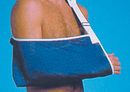 AliMed 510695- Arm Sling w/Thumb Loop - Blue - X-Large - 5/pk