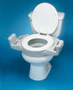 AliMed 74868- Elevated Push-Up Toilet Seat with Armrests