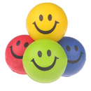 GOGO Smile Face Squeeze Balls, Assorted Color Relieve Stress Balls, Pack of 4