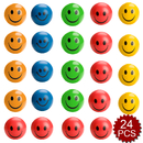 GOGO 24PCS Hand Exercise Squishy Ball Stress Relief Ball, Smiley Face Toy