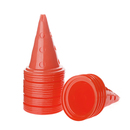 GOGO 24Pcs 12in Collapsible Sport Soccer Football Training Cone Traffic Safety Hole Round Cones