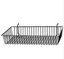 AMKO Displays BSK11/BLK Shallow Basket, 24