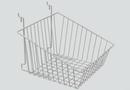 AMKO Displays BSK14/CH Sloped Front Basket, 12