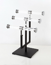 AMKO Displays CSR-T3 3 Tier Jewelry Stand, Base: 7