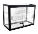 AMKO Displays F-1301-B Counter Top Glass Showcase, 24