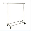 AMKO Displays RCS/1-CH Heavy Duty Collapsible Rolling Rack, 48