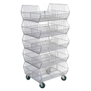 AMKO Displays SB5 5 Tier Stacking Basket