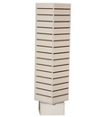 AMKO Displays SW-2020-W Slatwall Rotating Tower, 20